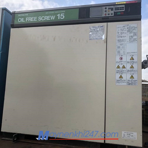 Máy nén khí không dầu Hitachi 15kw - 20hp