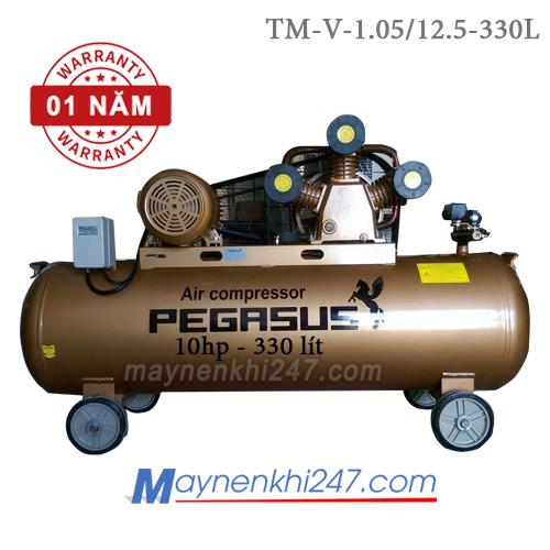 Máy nén khí Pegasus 10 HP, 330l, 12.5bar, 380V TM-V-1.05/12.5-330L