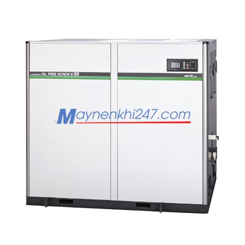 Máy nén khí trục vít Hitachi không dầu Next II Series 15-55KW một cấp nén