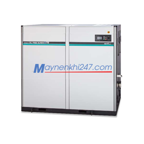 Máy nén khí trục vít Hitachi không dầu Next II Series 22-120KW hai cấp nén