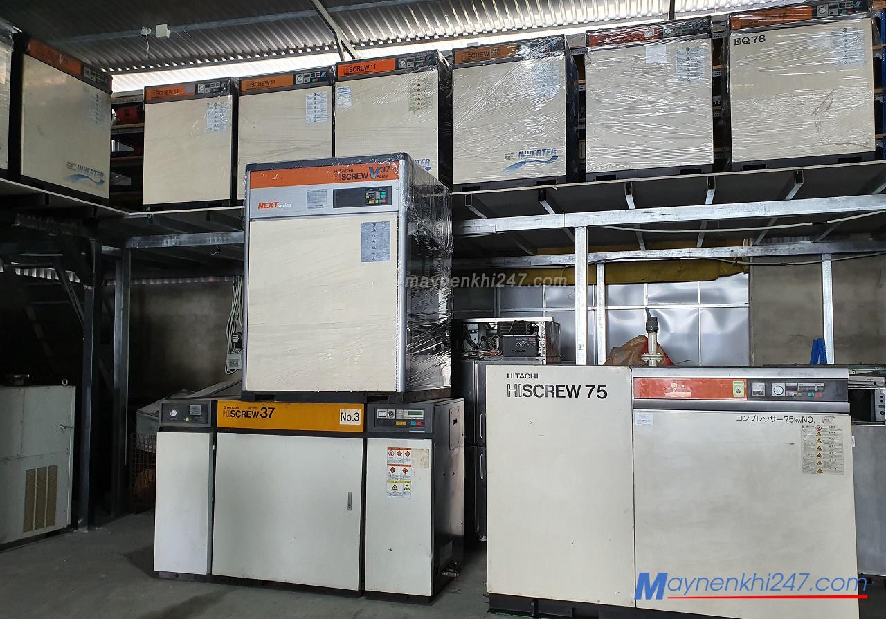 máy nén khí trục vít cũ